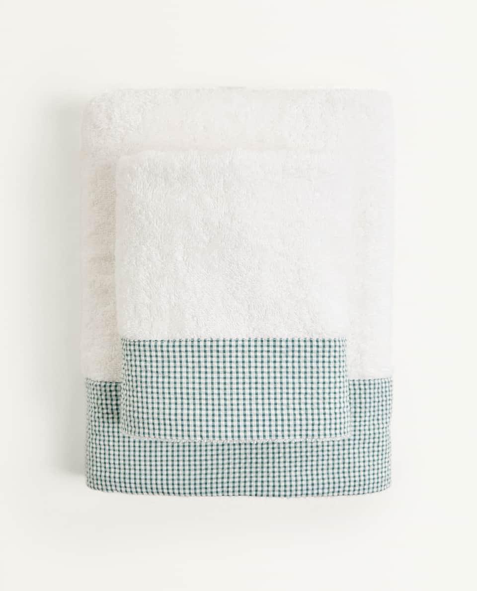 CHECK BORDER TOWEL