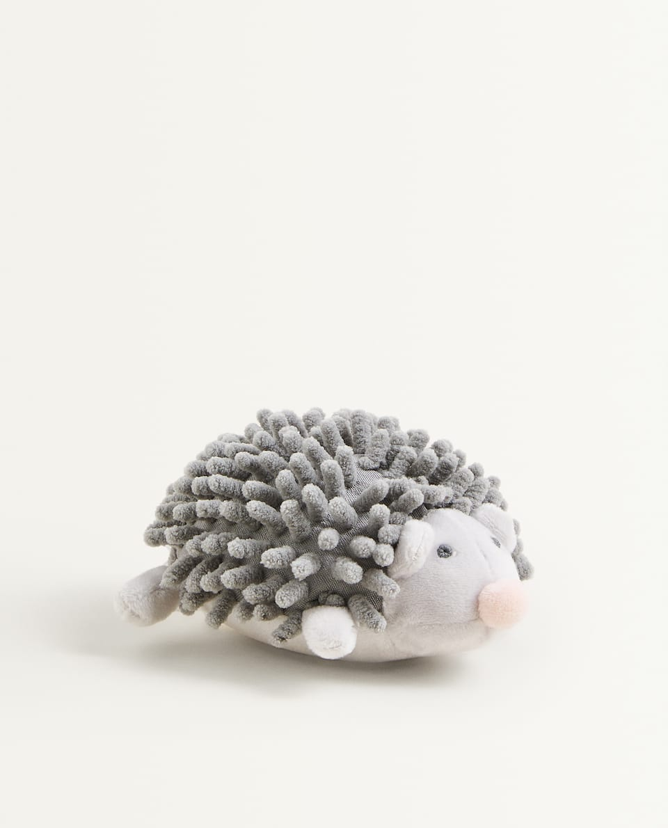 HEDGEHOG SOFT TOY WITH RATTLE