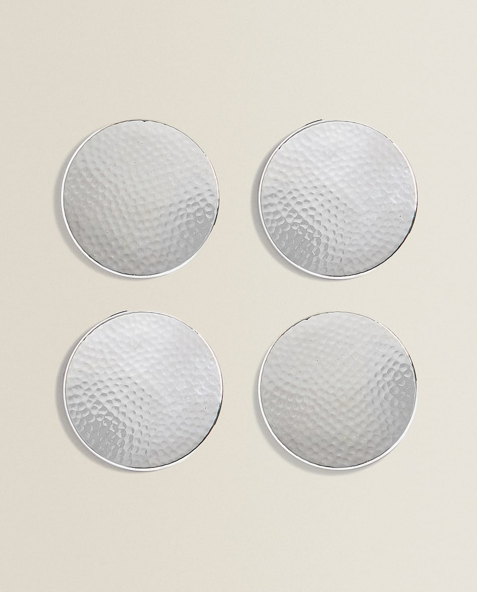 HAMMERED STEEL COASTER (PACK OF 4)