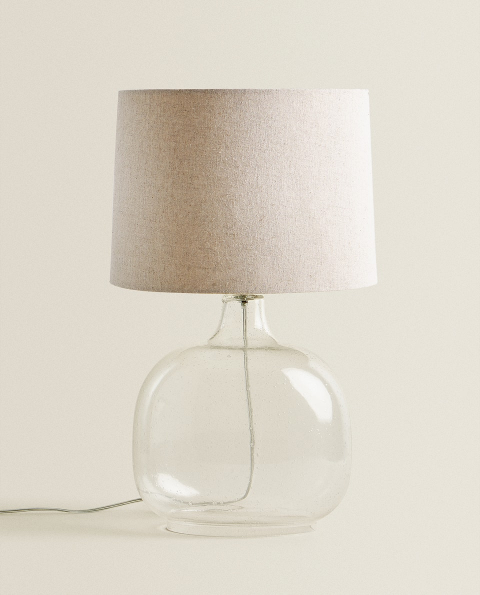 GLASS BASE LAMP