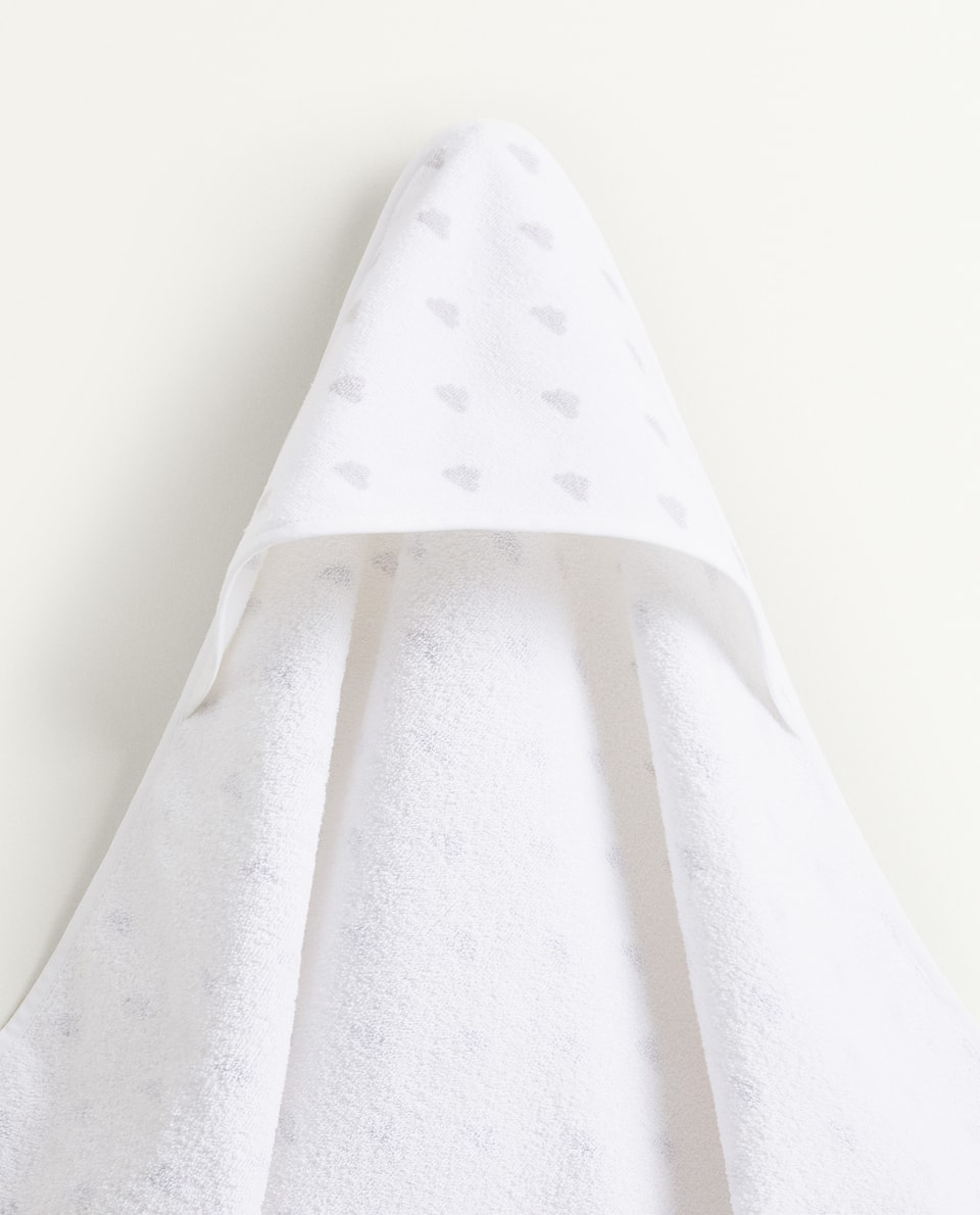 CLOUD PRINT HOODED TOWEL