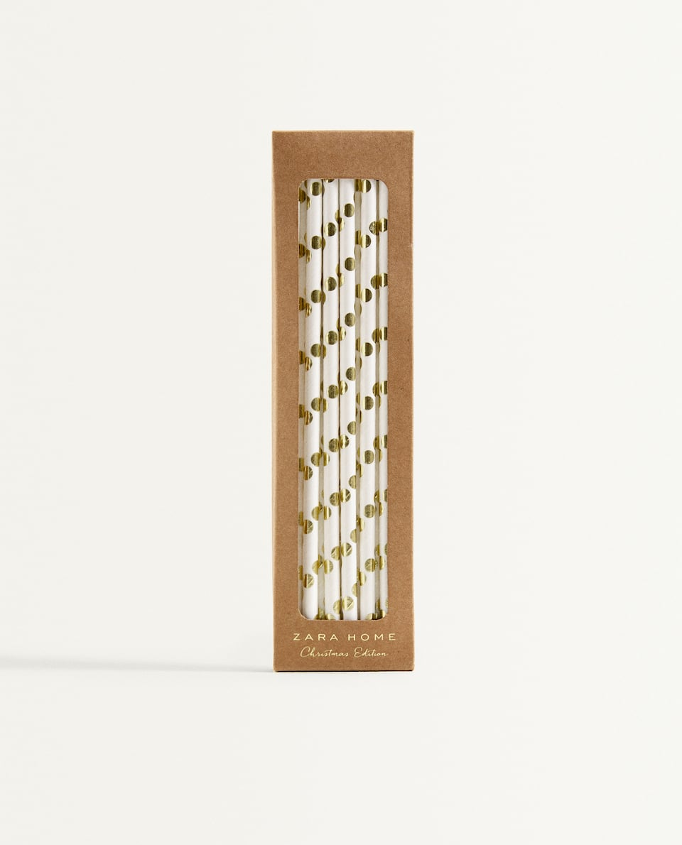CHRISTMAS PAPER STRAWS (PACK OF 20)