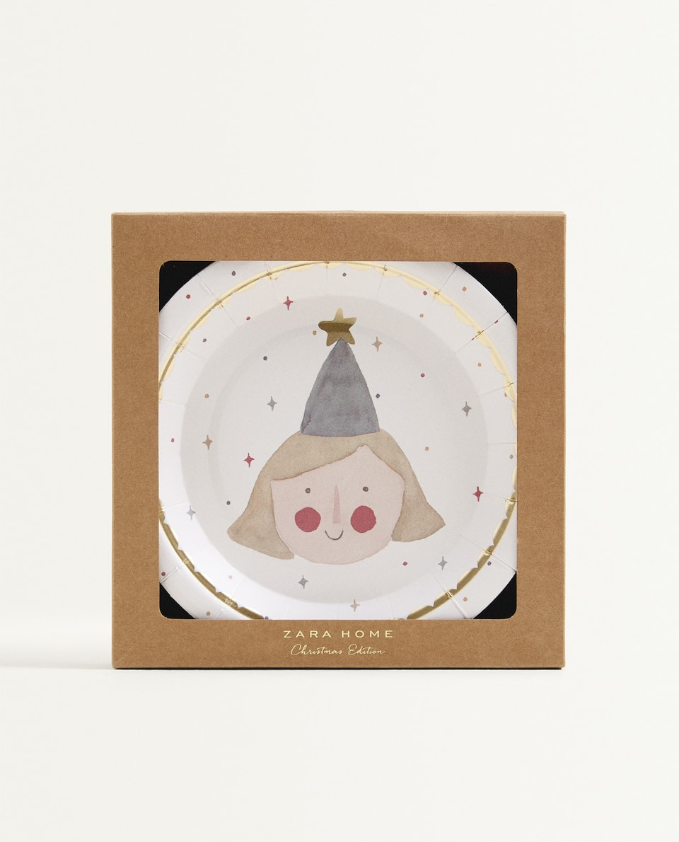CHRISTMAS PAPER DESSERT PLATE (PACK OF 12)