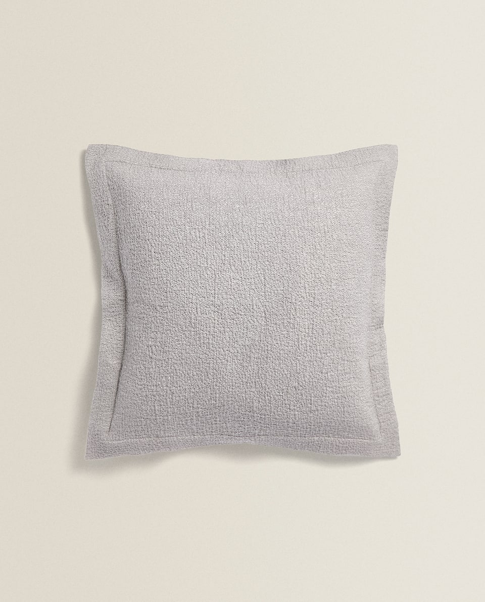 MELANGE-EFFECT COTTON CUSHION COVER
