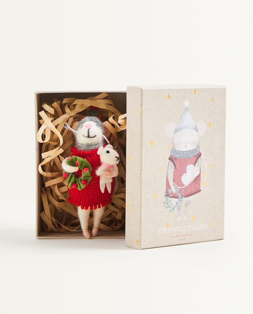 KIDS MUM MOUSE DOLL DECORATION