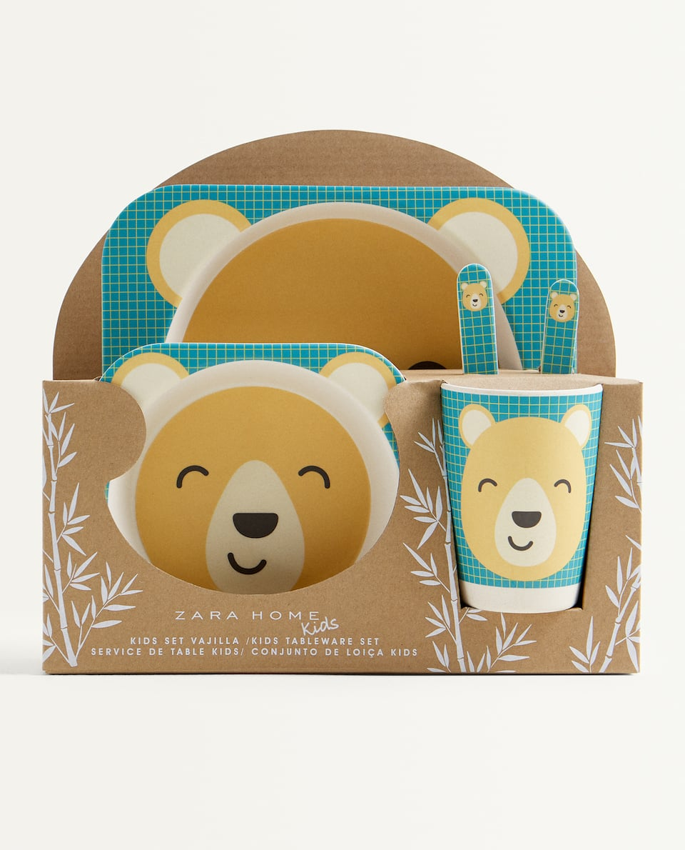 BEAR BAMBOO TABLEWARE SET