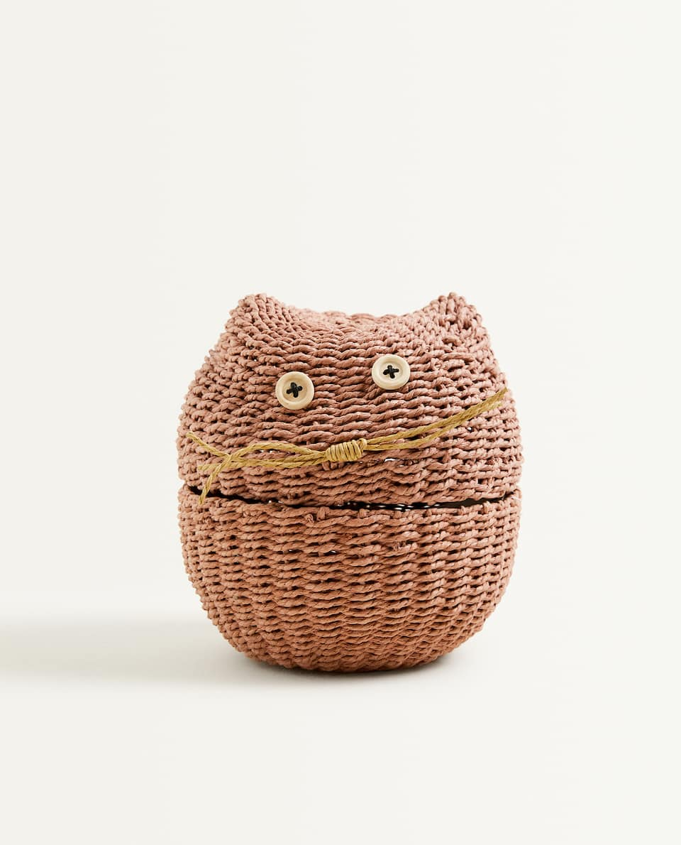 LITTLE CAT-SHAPED BASKET