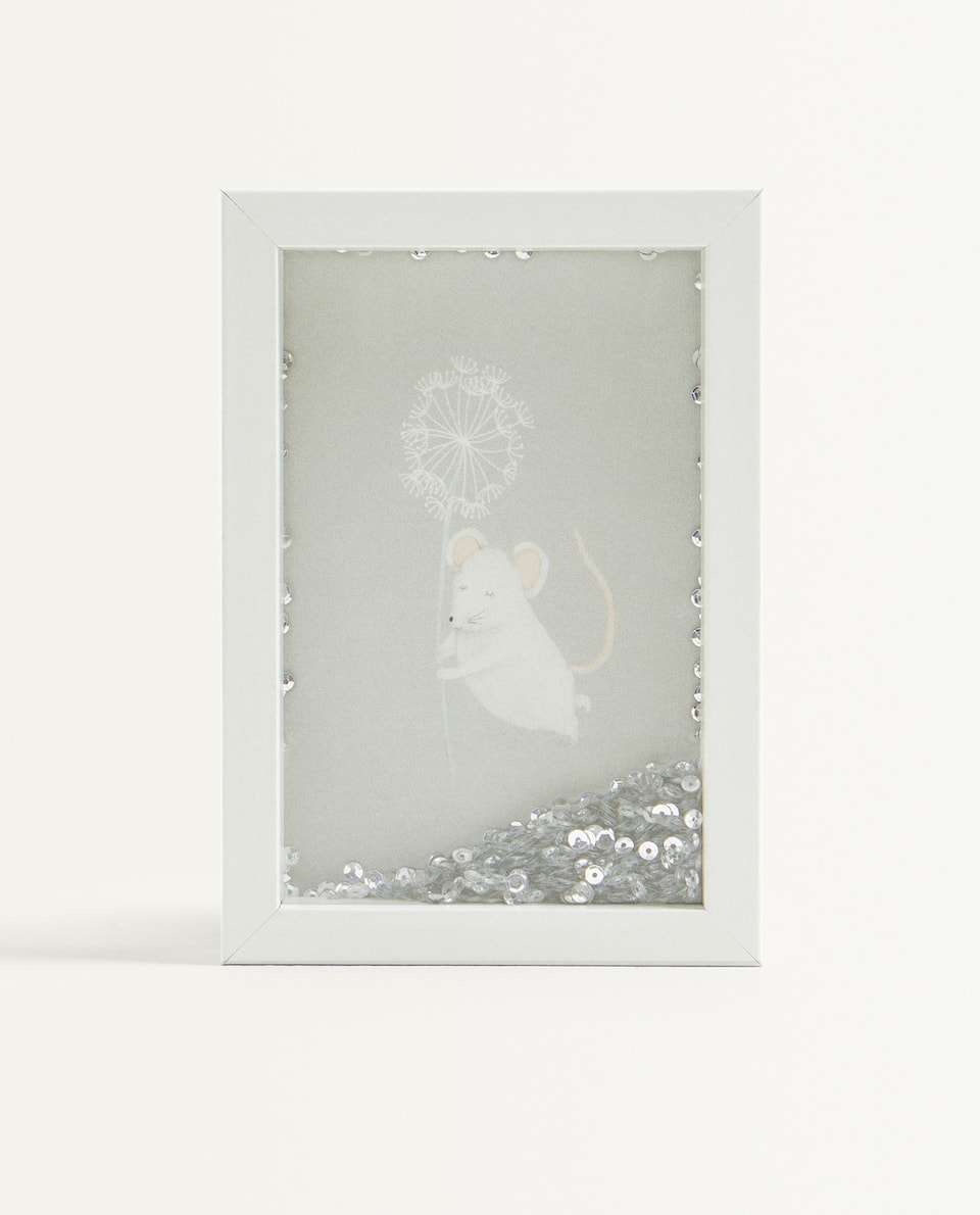 MOUSE FRAME WITH SEQUINS