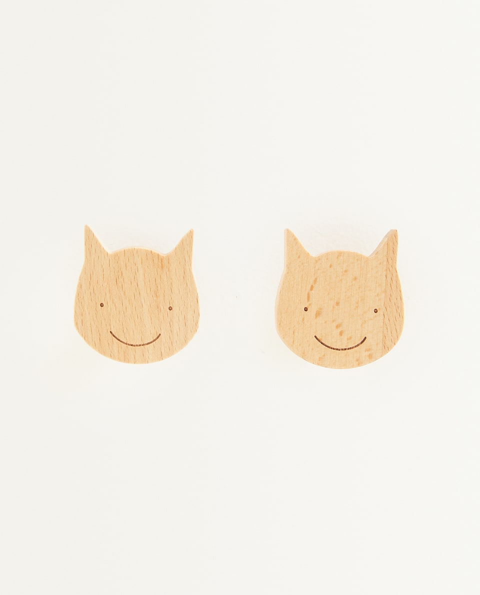مقبض للباب بتصميم الثعلب للأطفال (حزمة من 2)