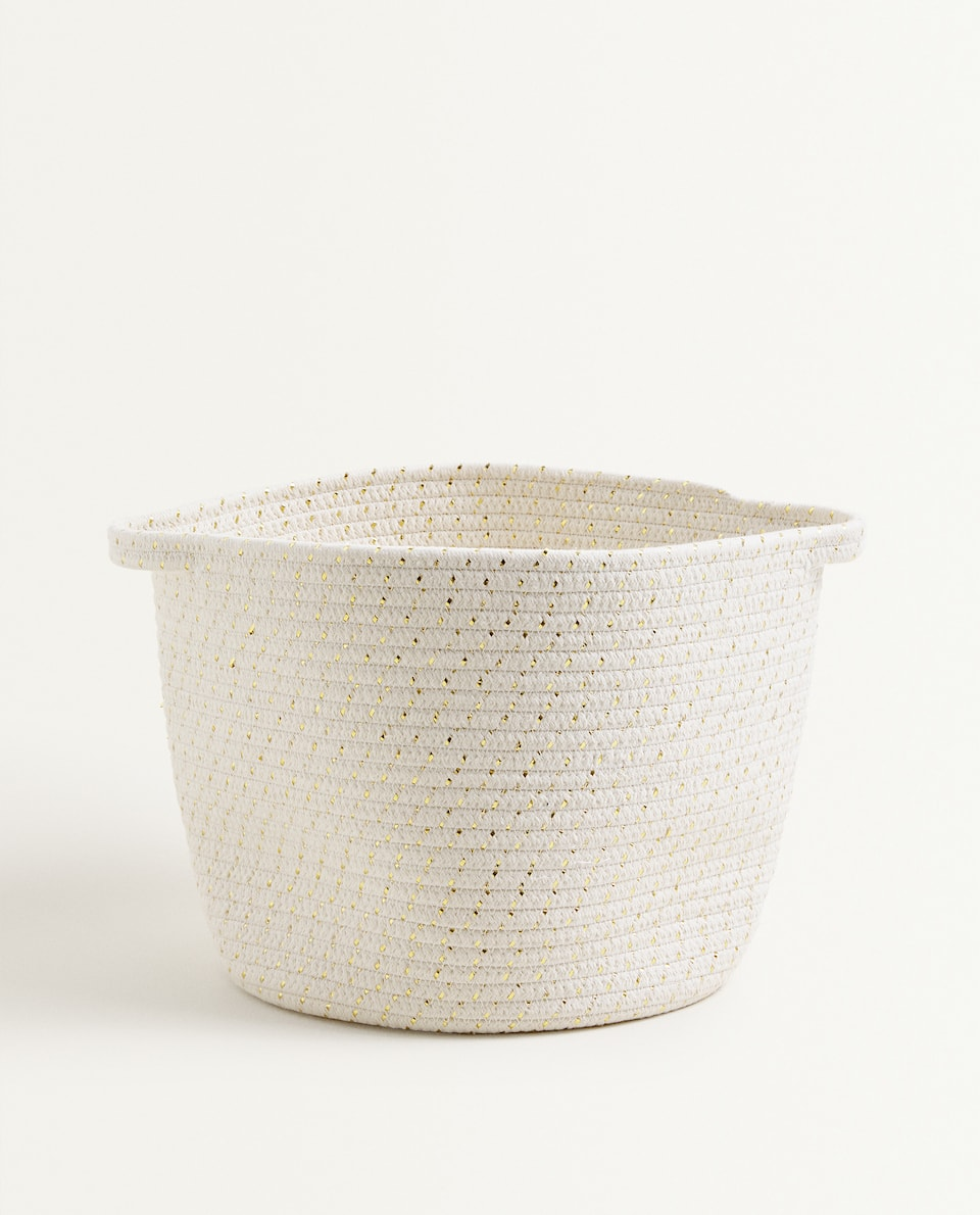 COTTON BASKET WITH HANDLES