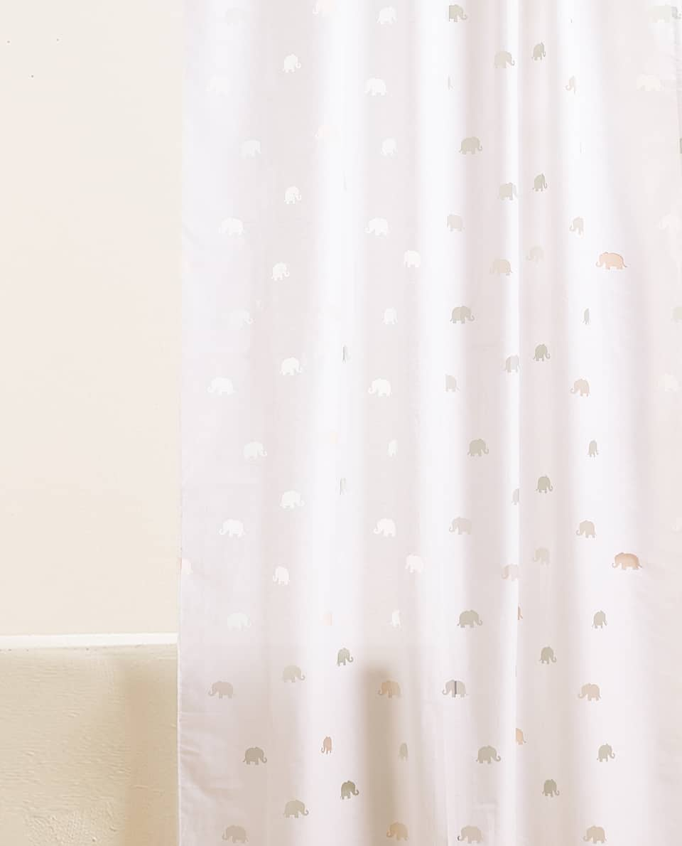 ELEPHANT PRINT CURTAIN