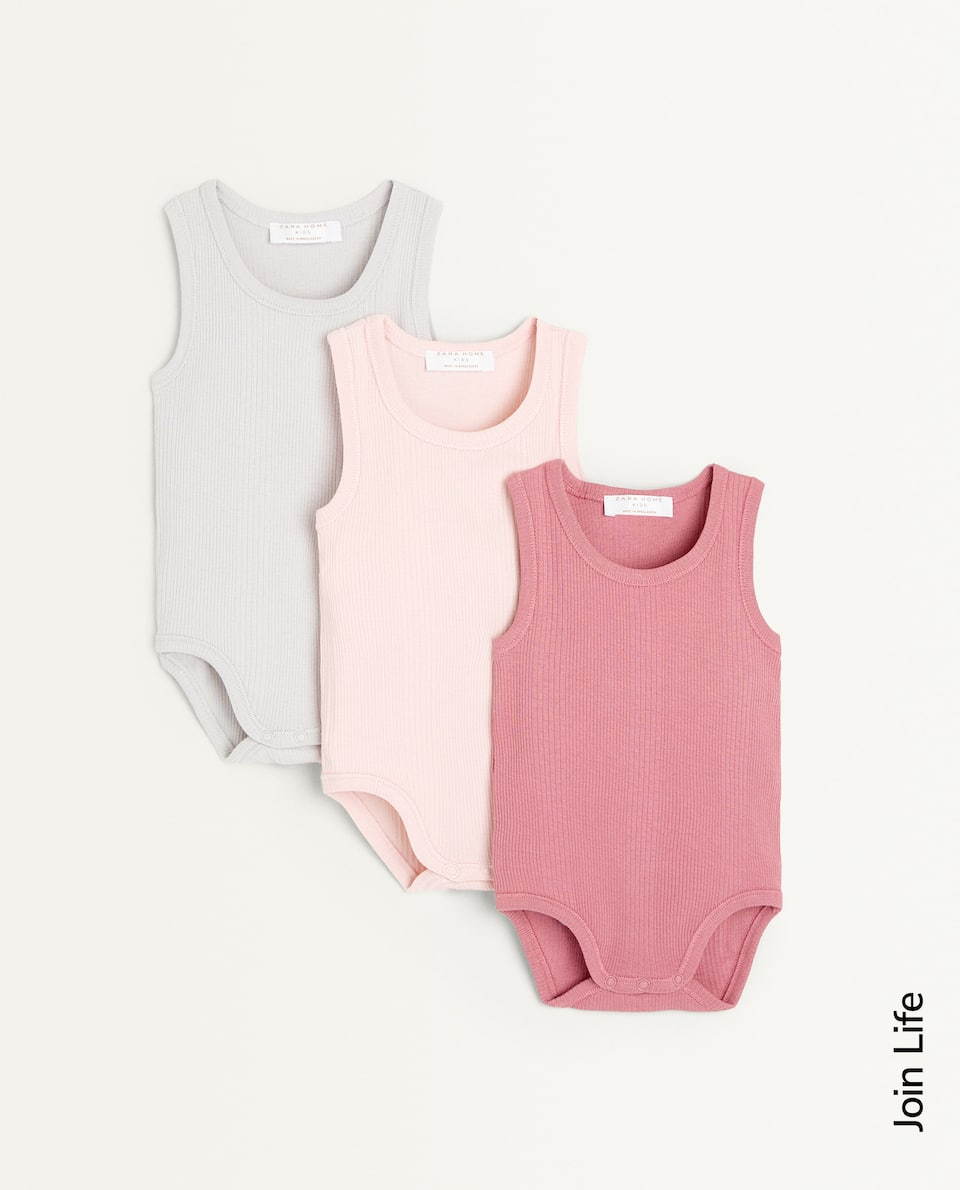 SLEEVELESS BODYSUIT (SET OF 3)
