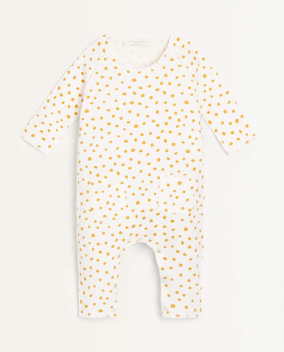 DOTTED JERSEY ROMPER SUIT