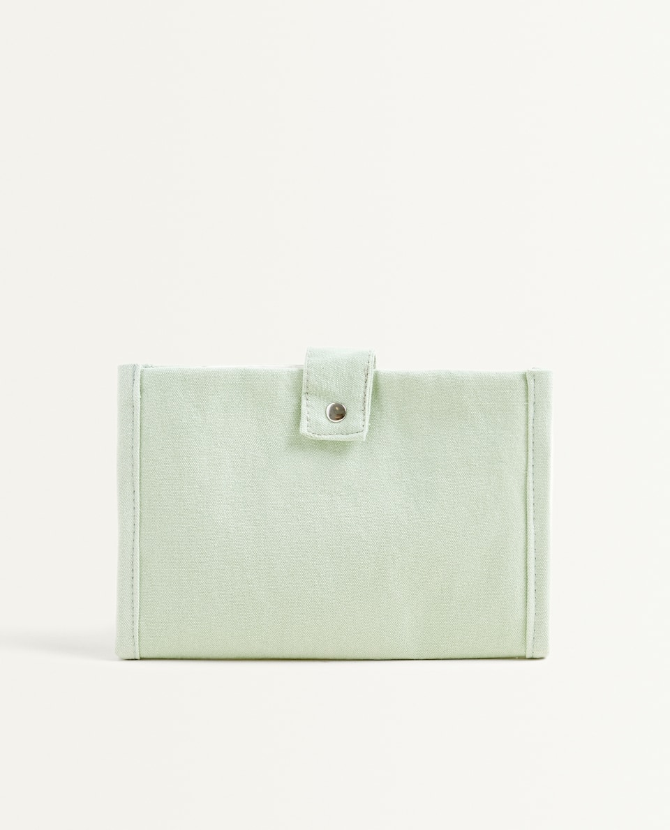 MINT GREEN COTTON TOILETRY BAG