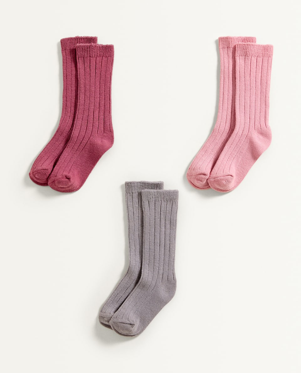 LONG SOCKS (SET OF 3 PAIRS)