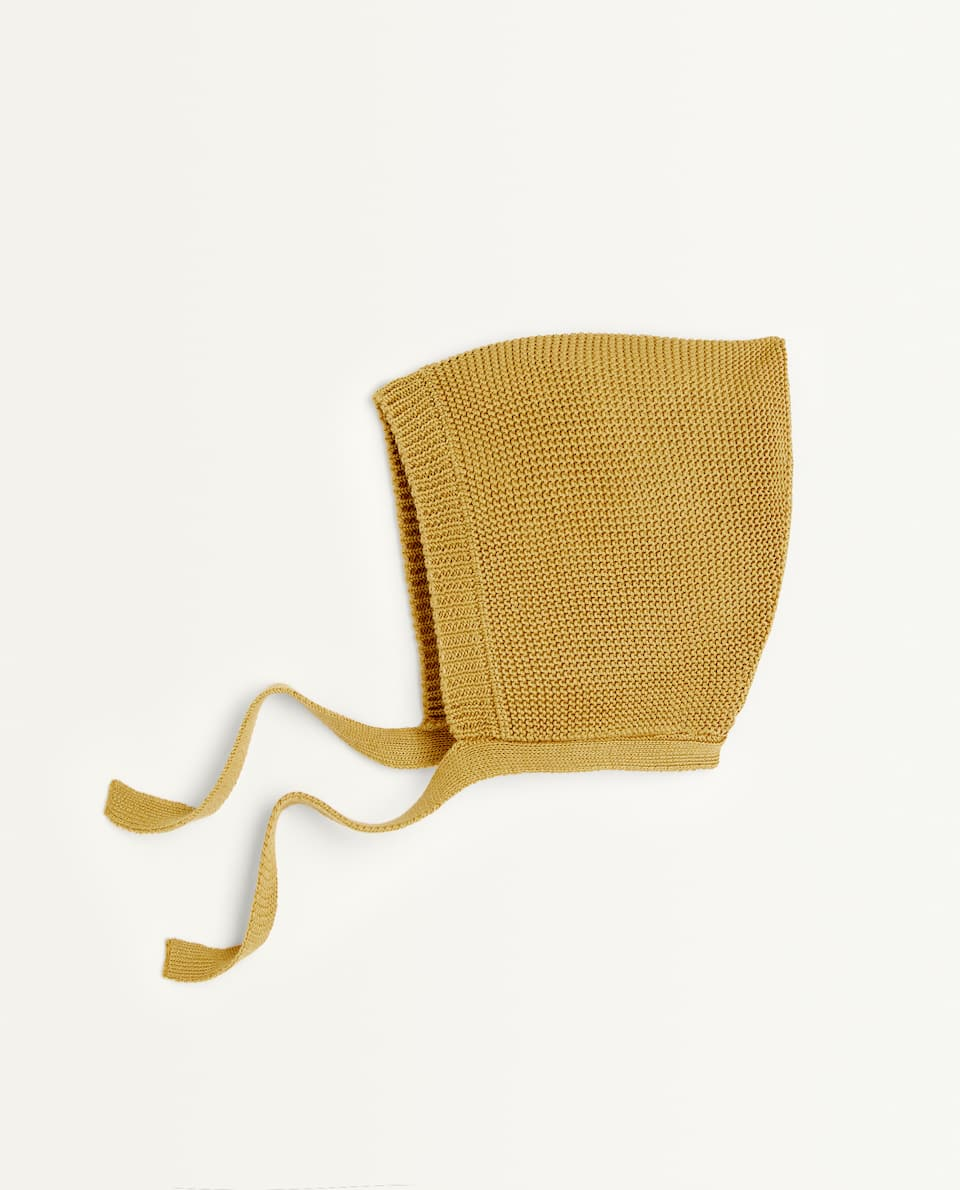 KNIT COTTON BONNET