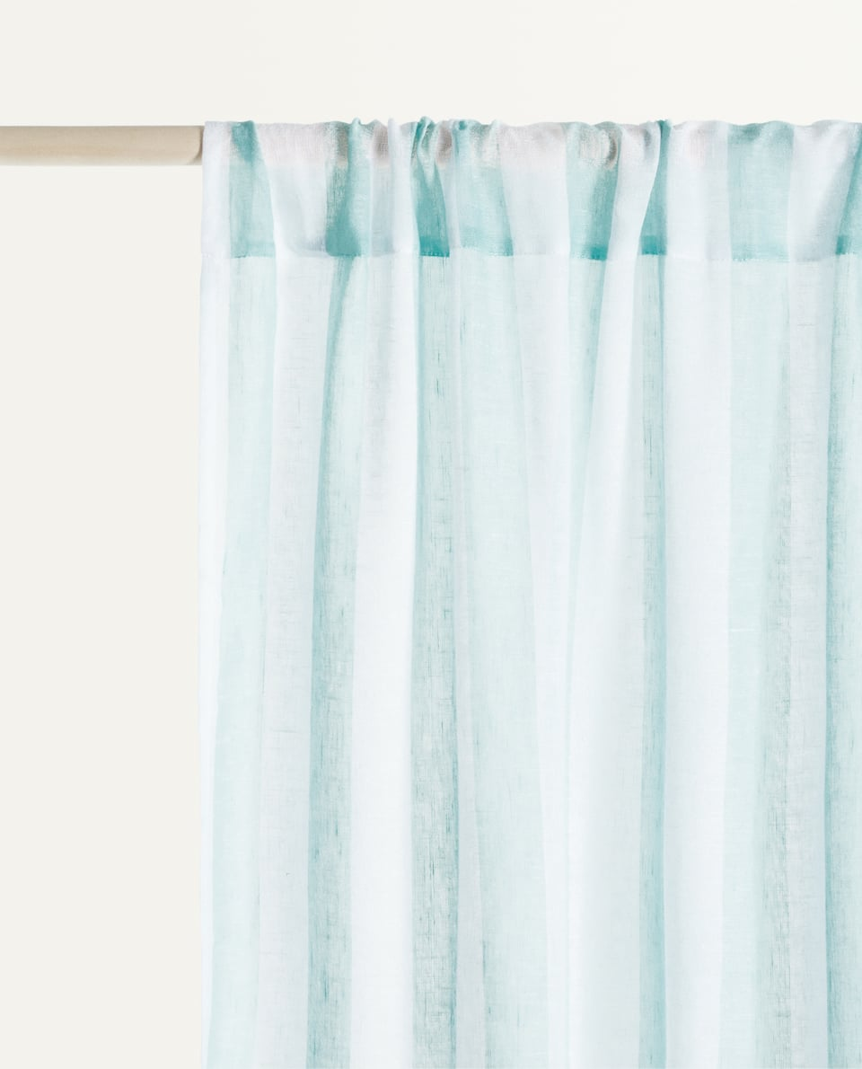 STRIPED TWO-TONE CURTAIN