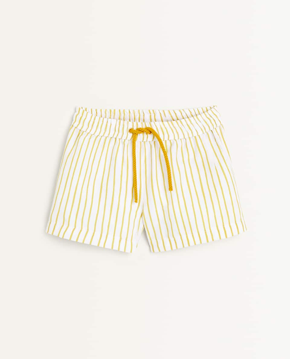 BOYS' STRIPED SWIMMING TRUNKS