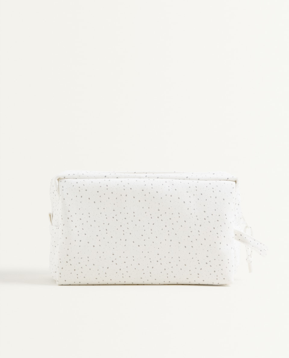 POLKA DOT CANVAS TOILETRY BAG