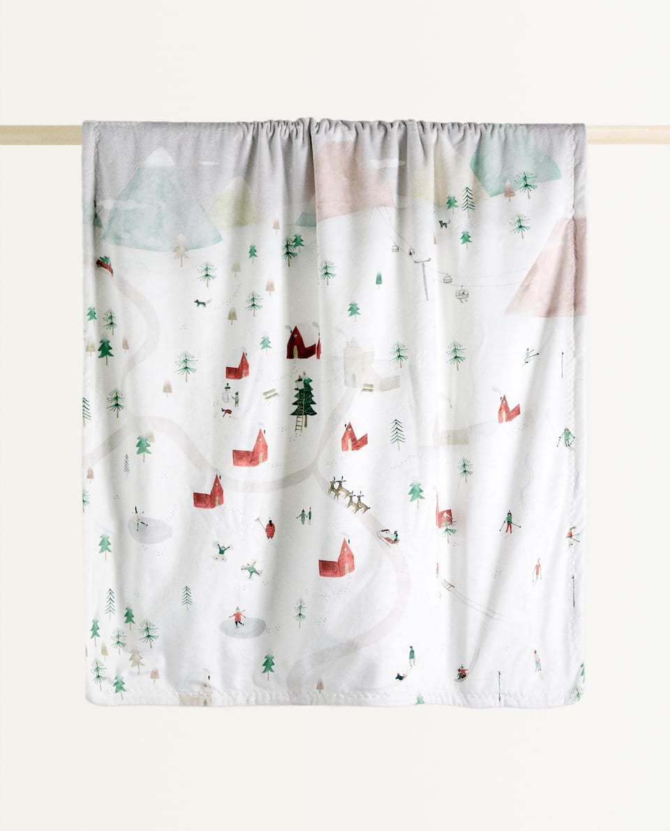 CHRISTMAS POSTCARD BLANKET