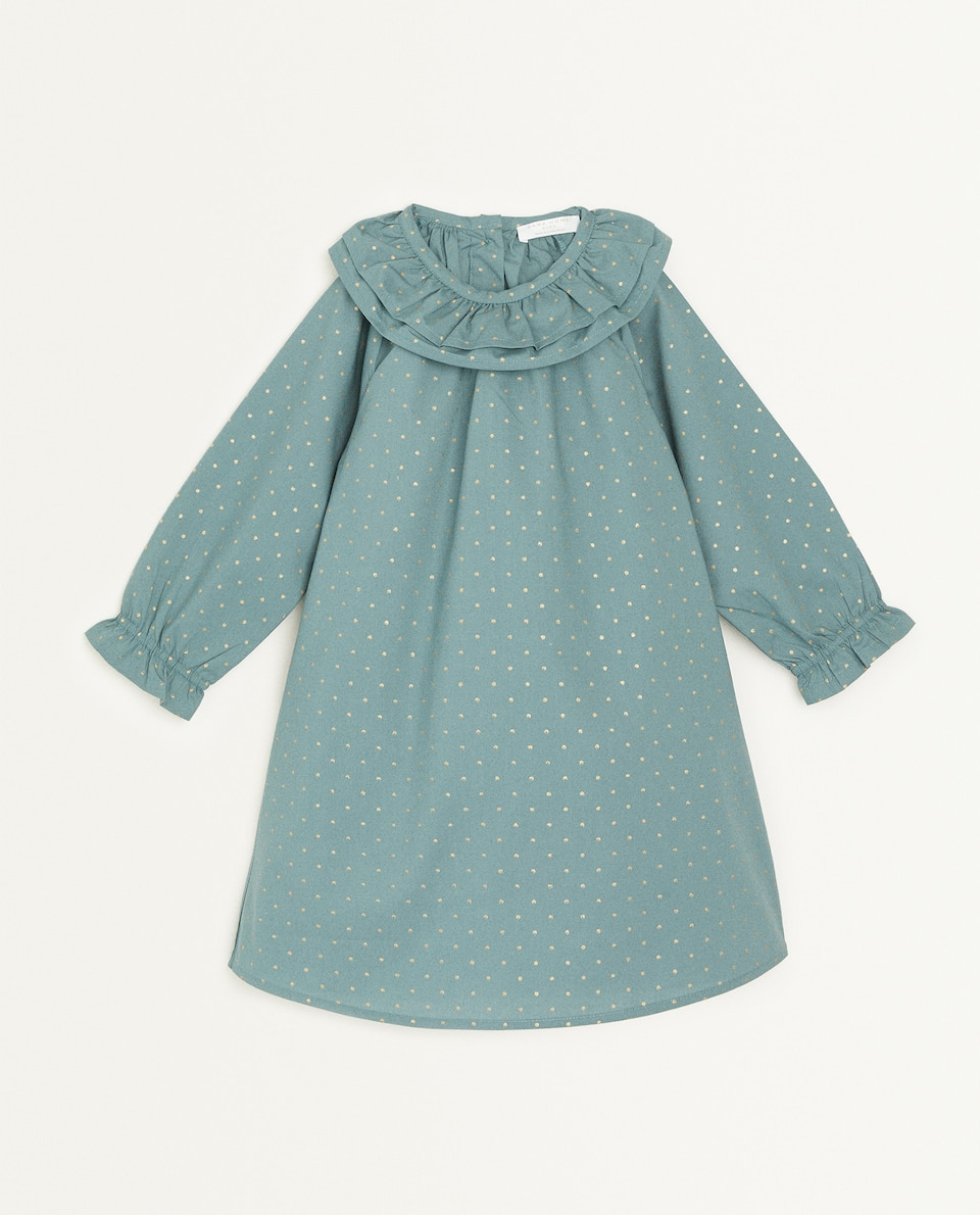 DOUBLE COLLAR COTTON DRESS