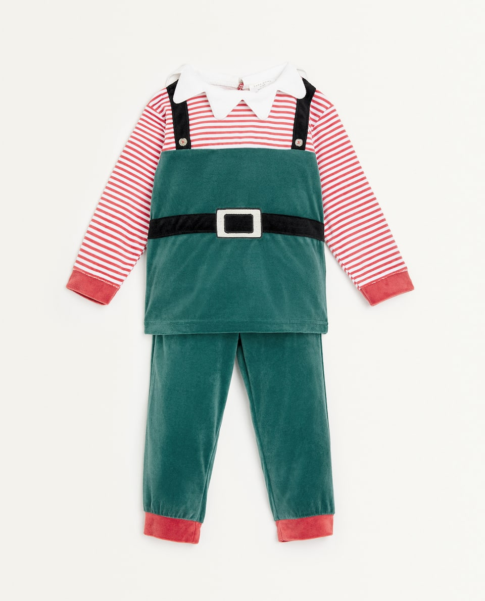 KIDS ELF PYJAMAS