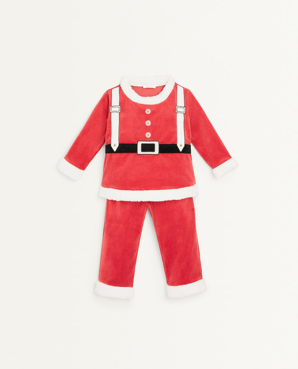 KIDS FATHER CHRISTMAS PYJAMAS