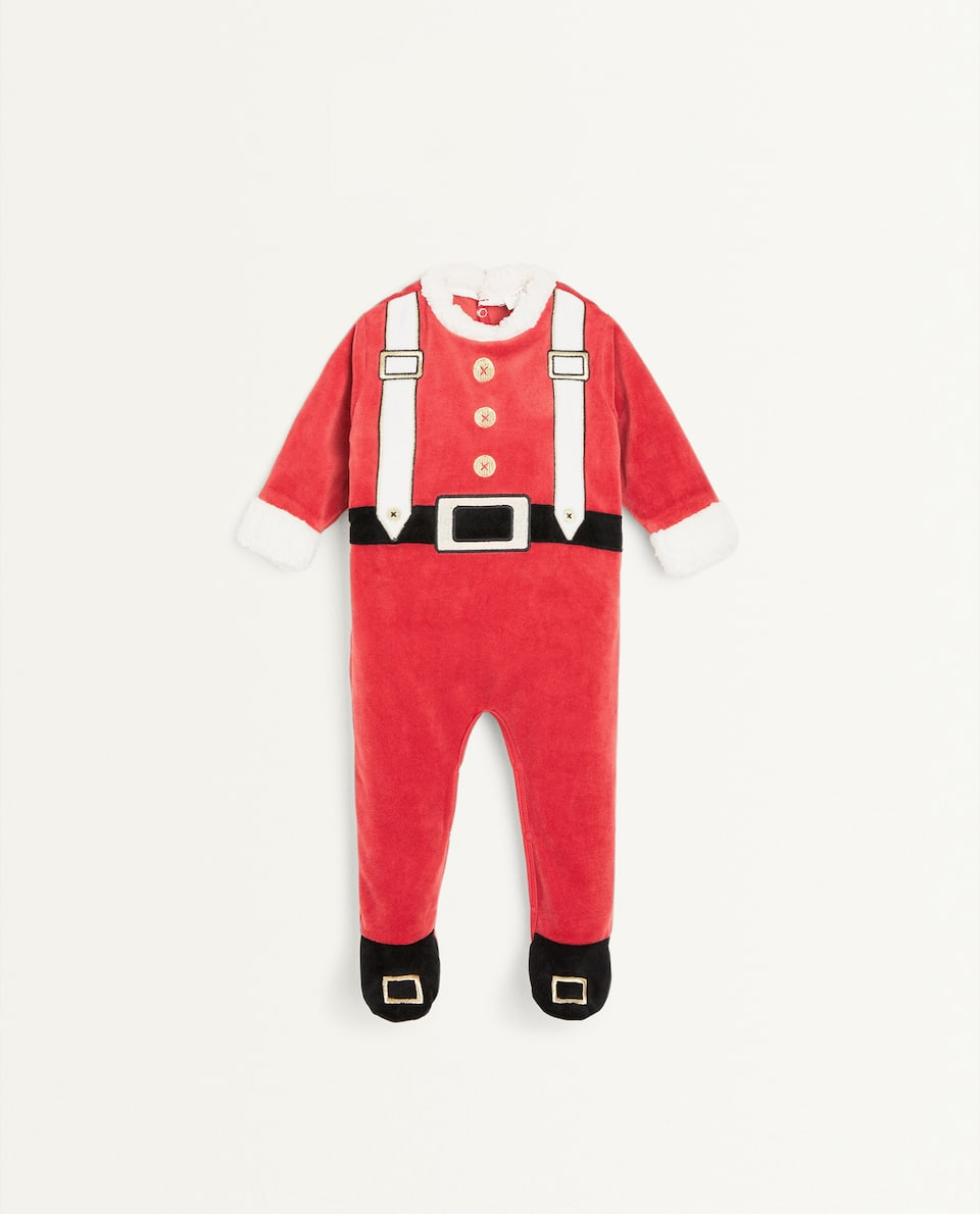 KIDS FATHER CHRISTMAS ROMPER SUIT