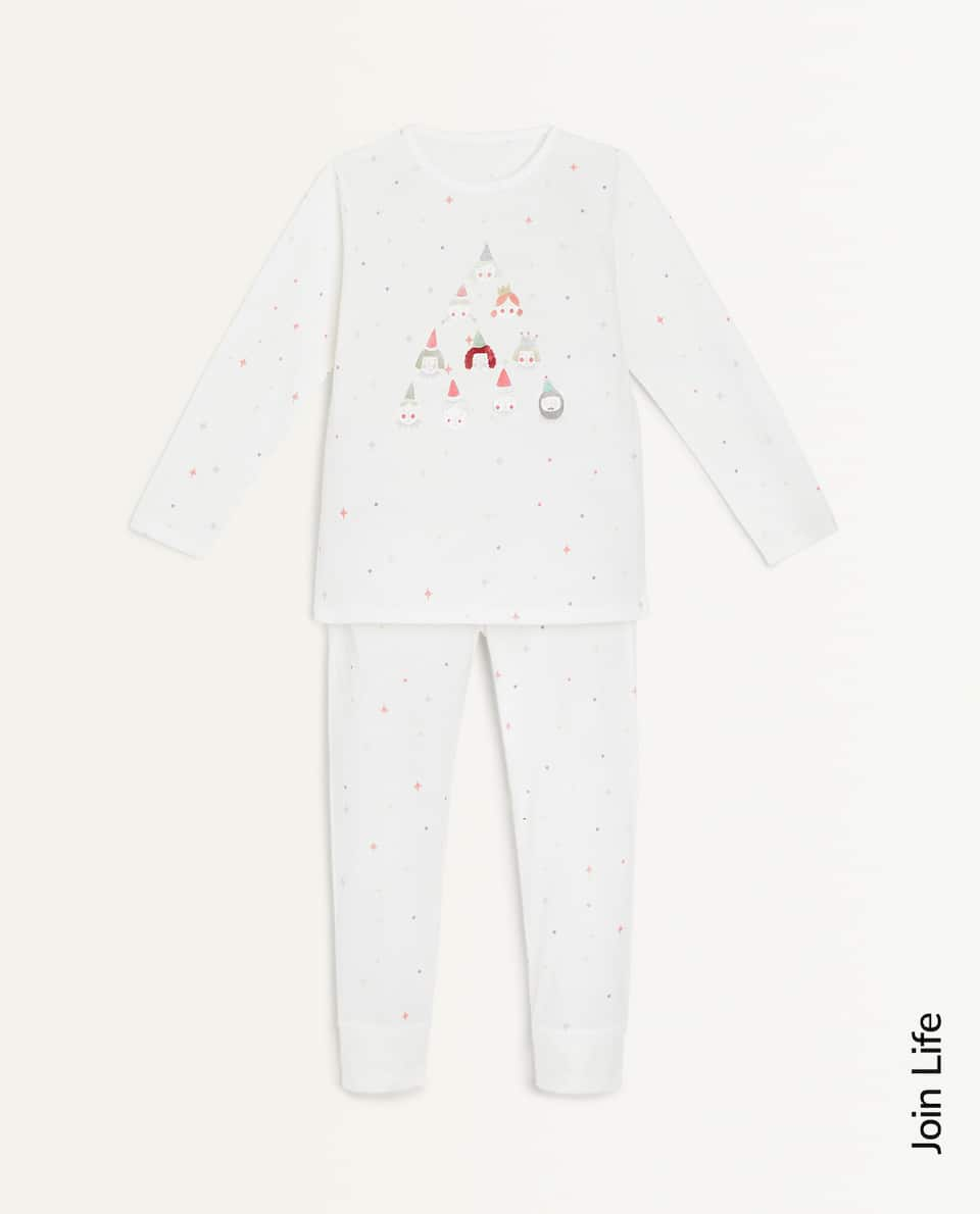 FACE AND STAR PRINT SET OF PYJAMAS