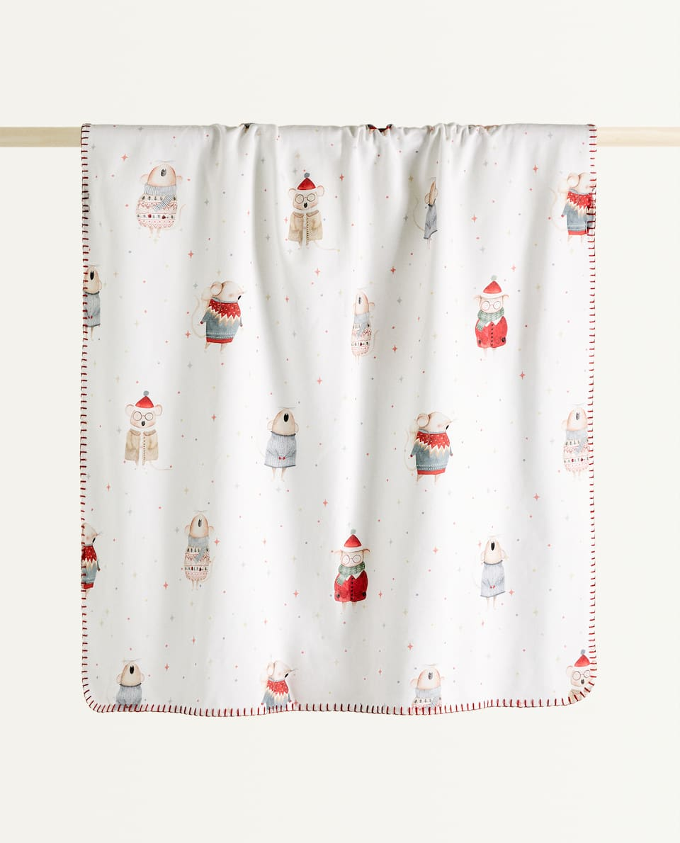LITTLE MOUSE FLEECE BLANKET