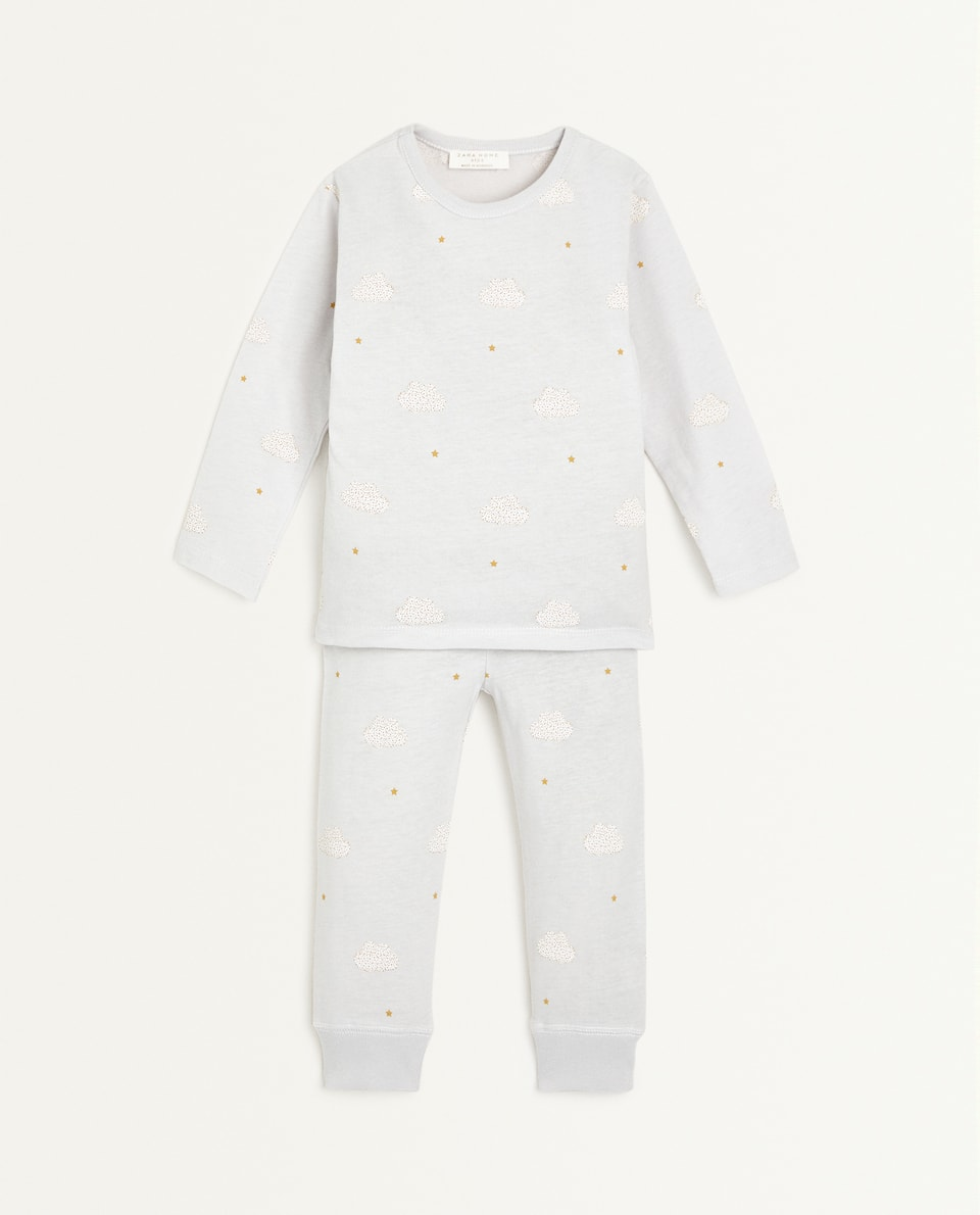 CLOUD PRINT COTTON PYJAMAS