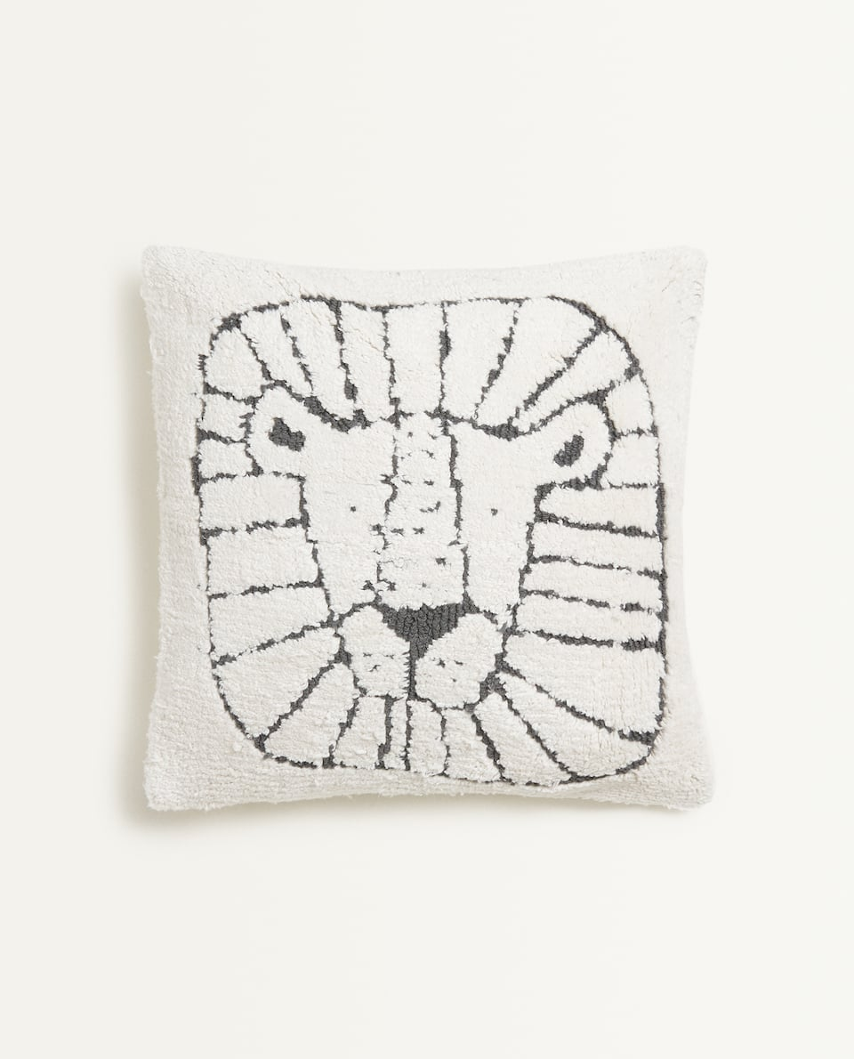 LION FACE CUSHION COVER