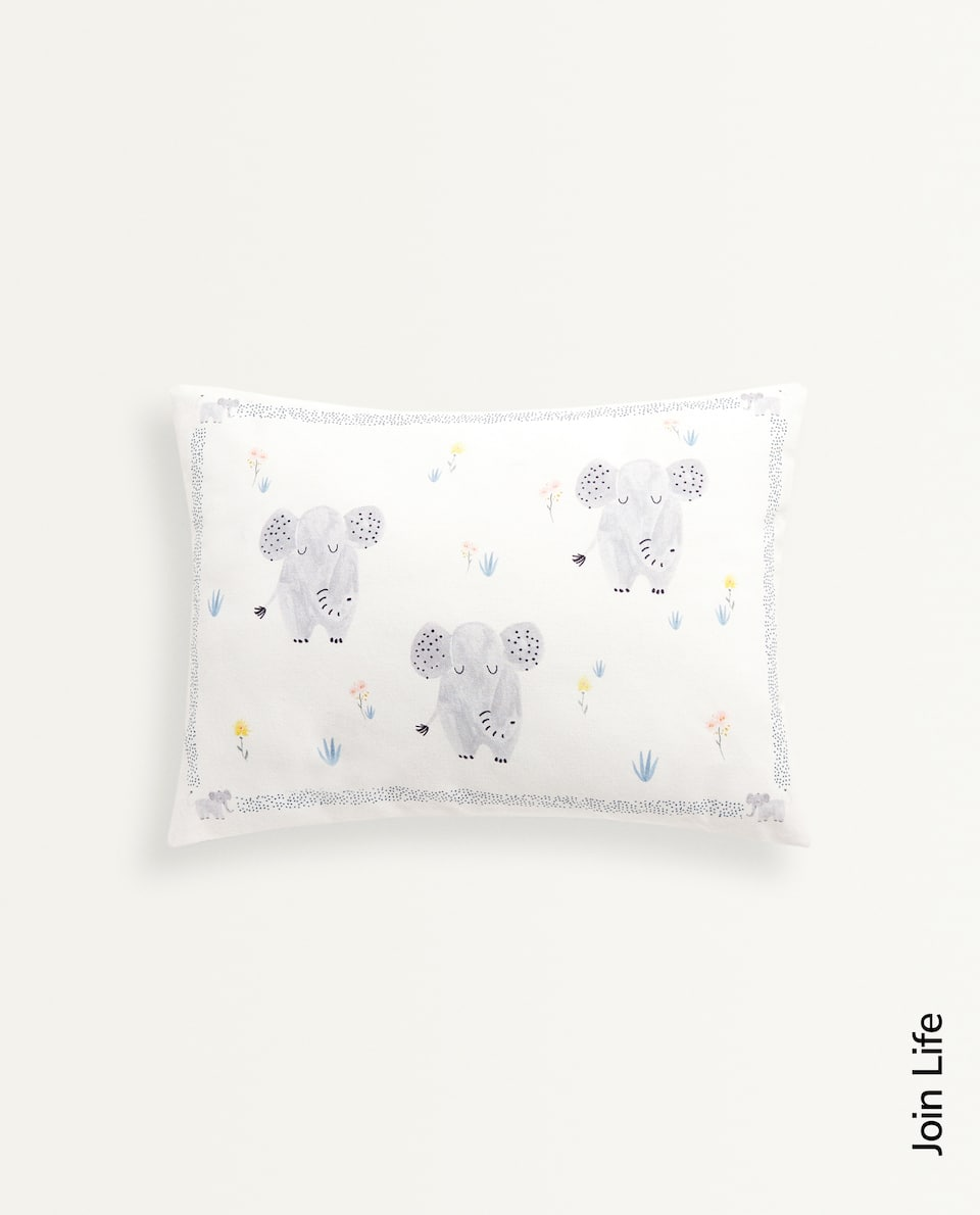 ELEPHANT PRINT CUSHION COVER