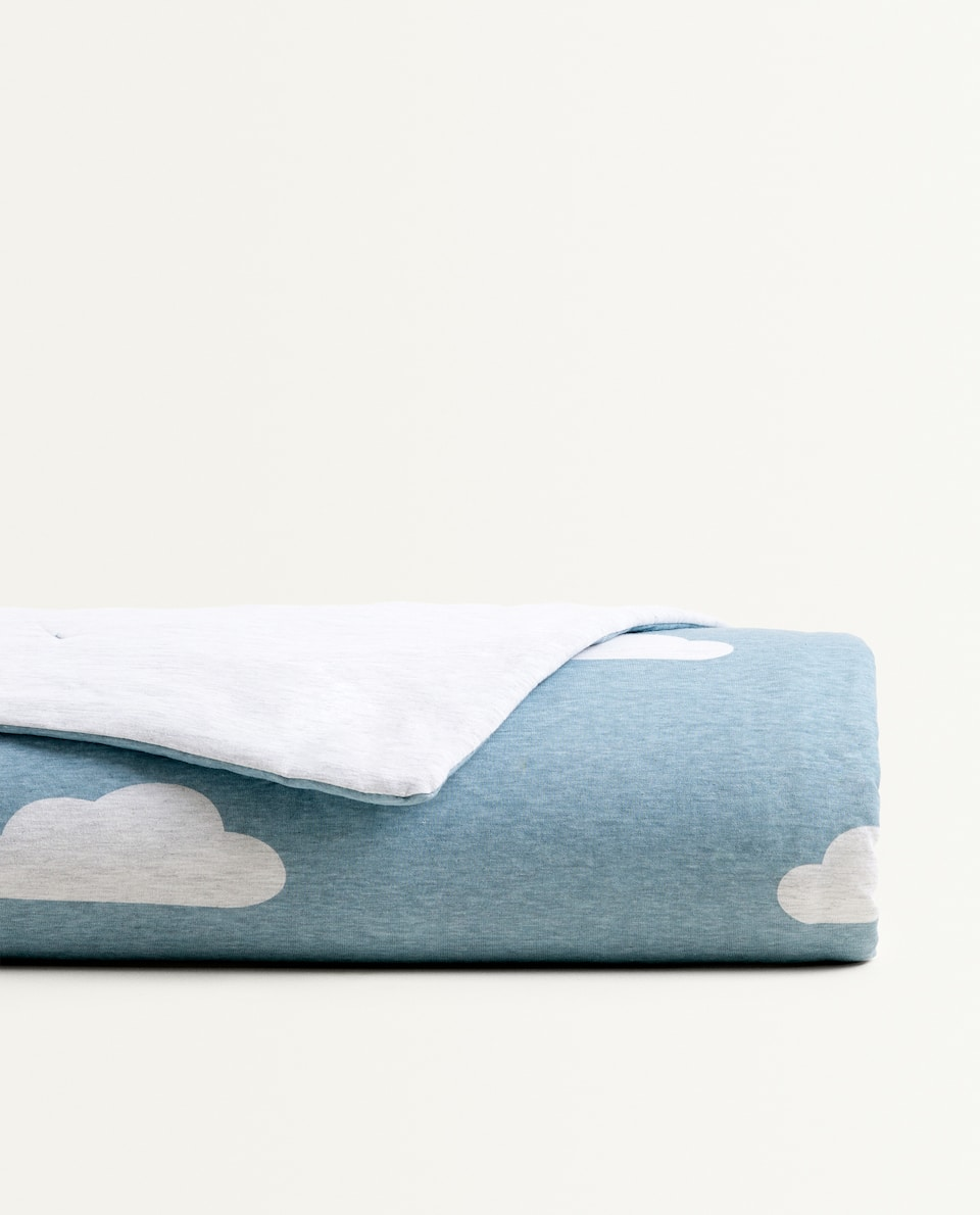 CLOUD PRINT JERSEY FABRIC QUILT