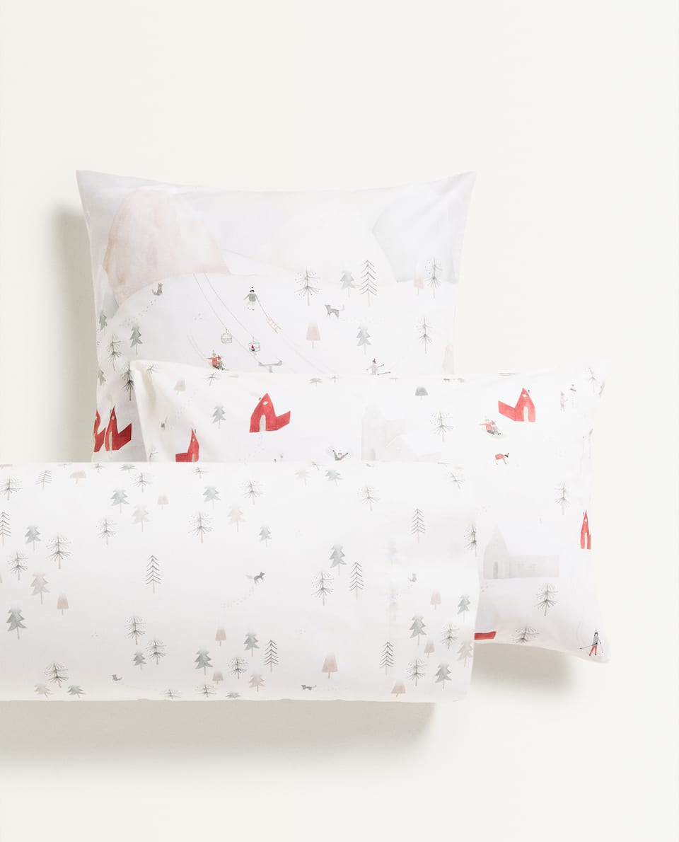 CHRISTMAS SCENE PILLOWCASE