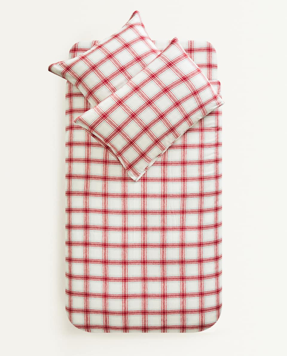 CHECK FLANNEL DUVET COVER