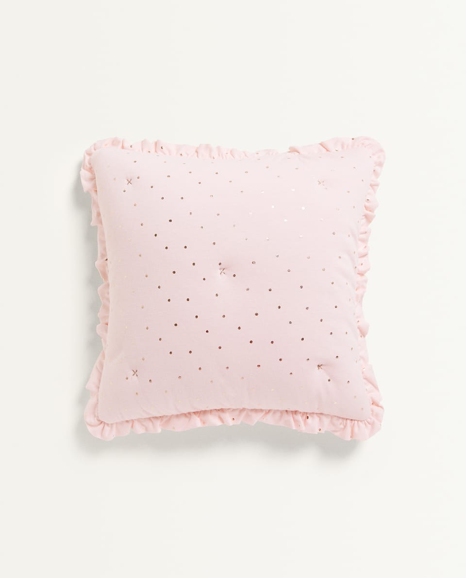 METALLIC PRINT JERSEY CUSHION COVER