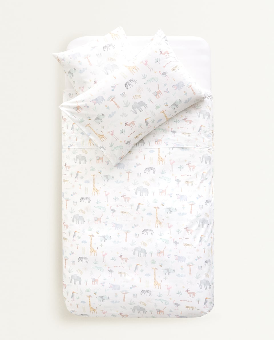 RAINFOREST ANIMALS DUVET COVER