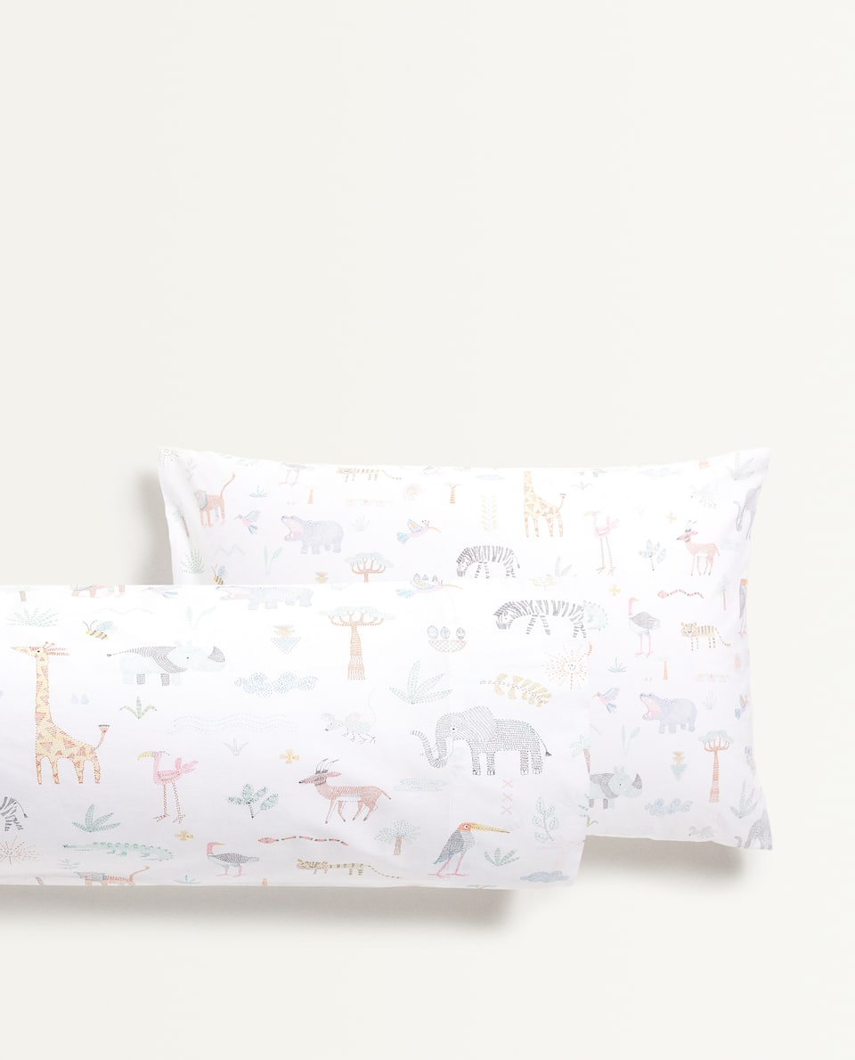RAINFOREST ANIMALS PILLOWCASE