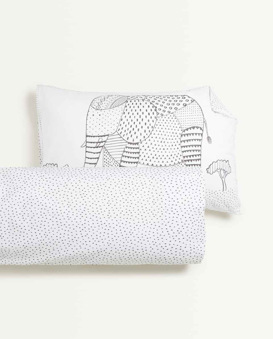 POLKA DOT ANIMAL PRINT PILLOWCASE
