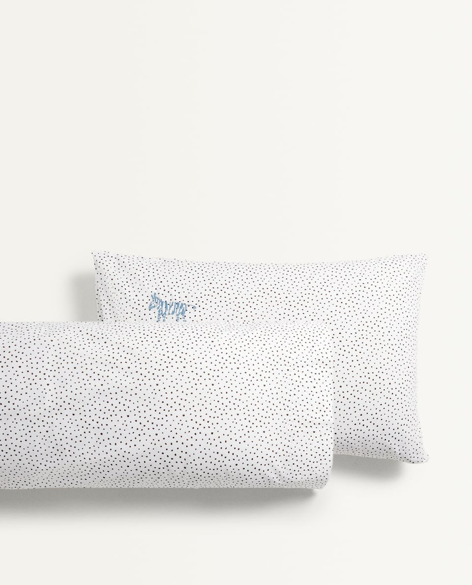 POLKA DOT ZEBRA PILLOWCASE
