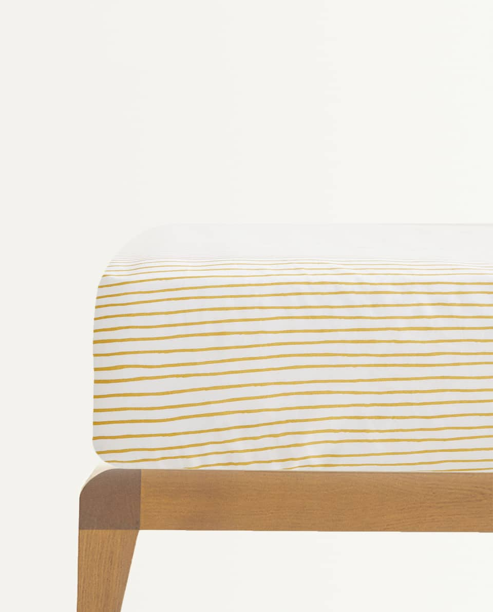 STRIPED FITTED SHEET