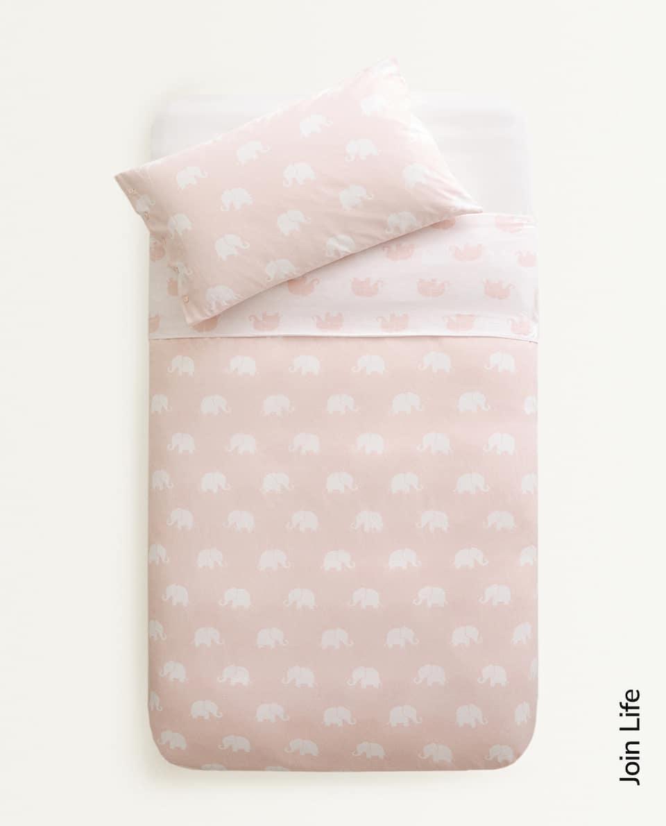 ELEPHANT DUVET COVER AND PILLOWCASE SET