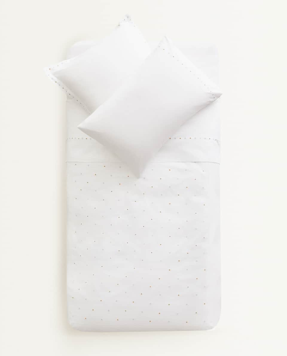 EMBROIDERED STARS DUVET COVER