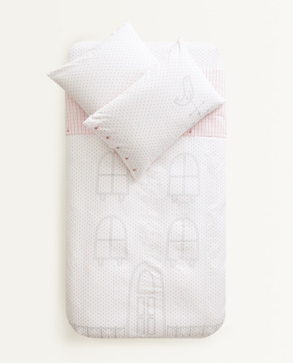 HOUSE PRINT DUVET COVER