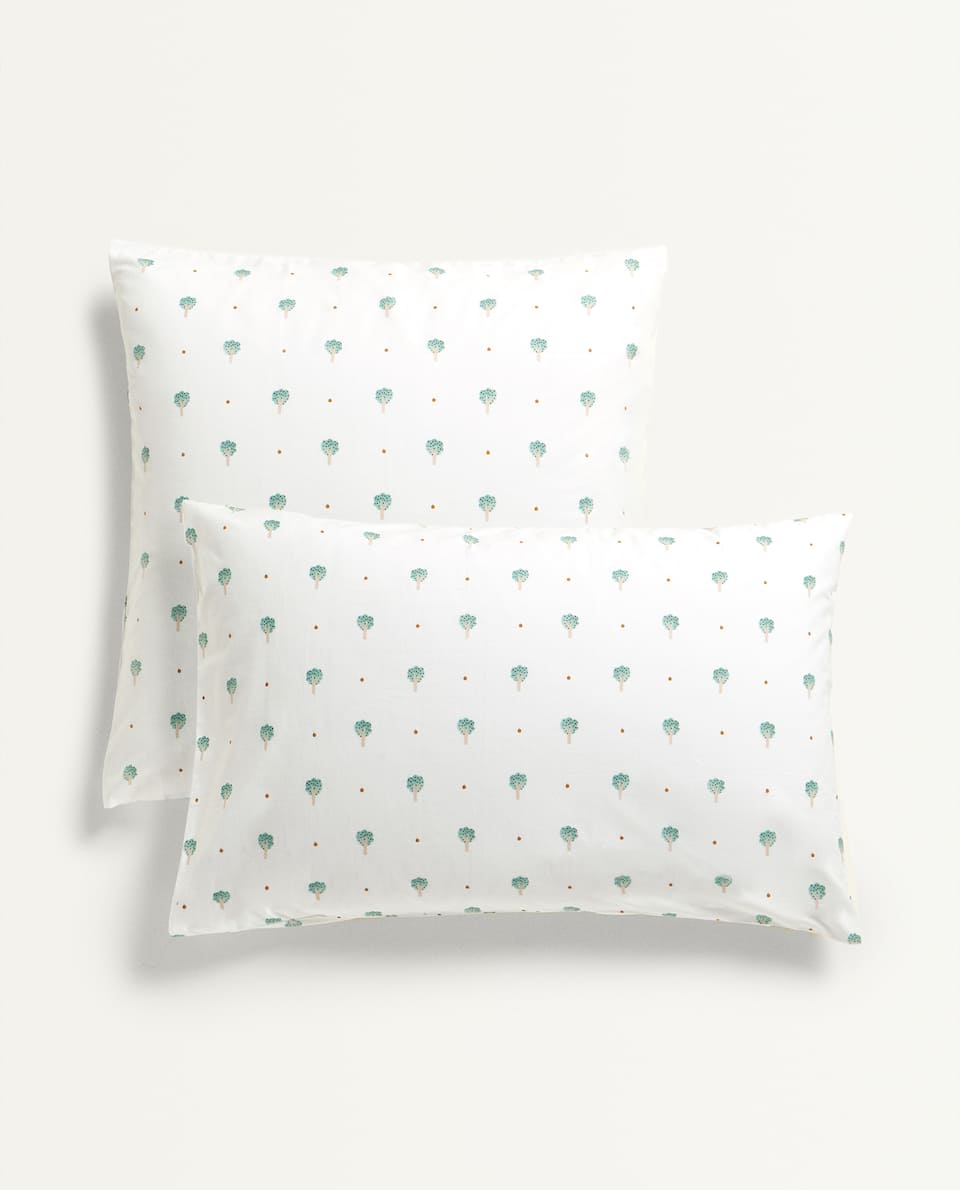 TREE PRINT PILLOWCASE