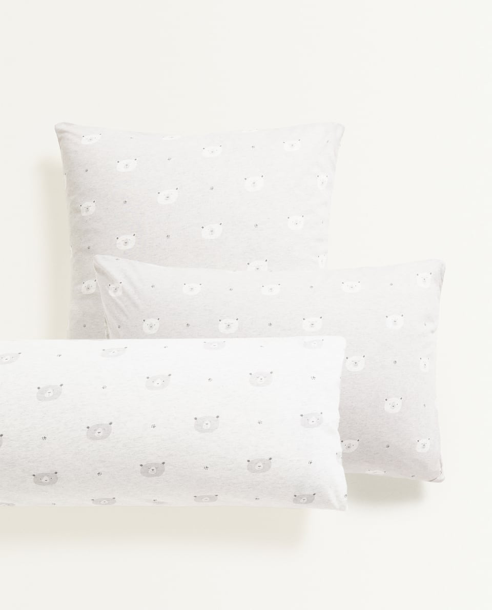 JERSEY FABRIC PILLOWCASE WITH LITTLE BEARS