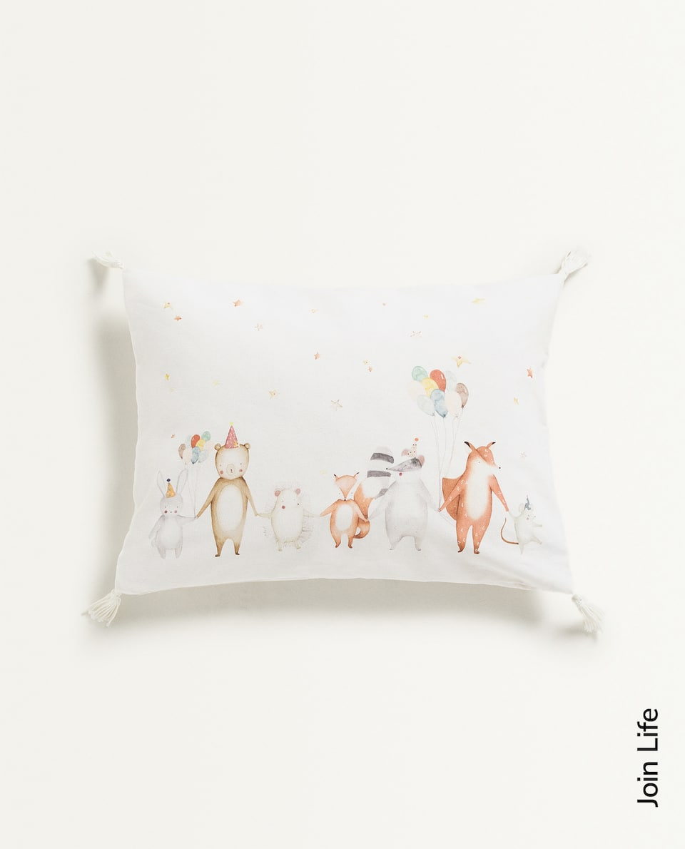 ANIMAL PARTY CUSHION COVER