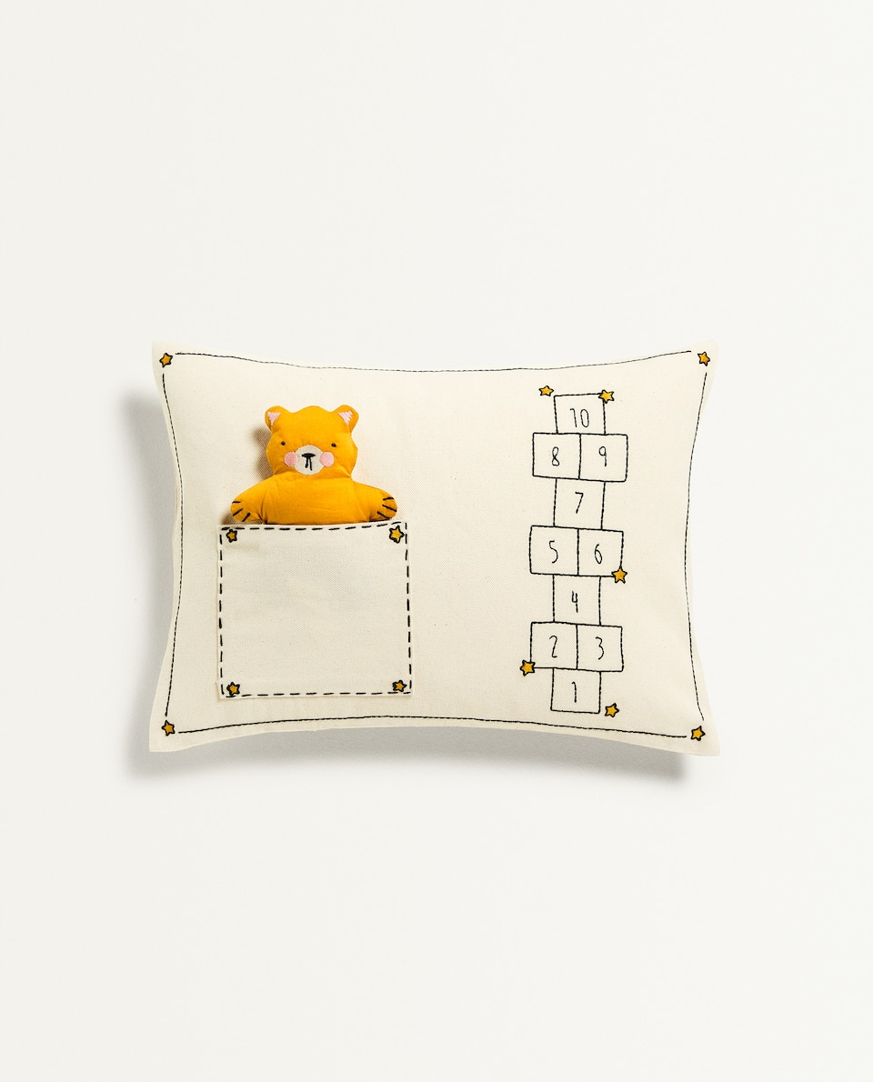 BEAR TOY CUSHION COVER