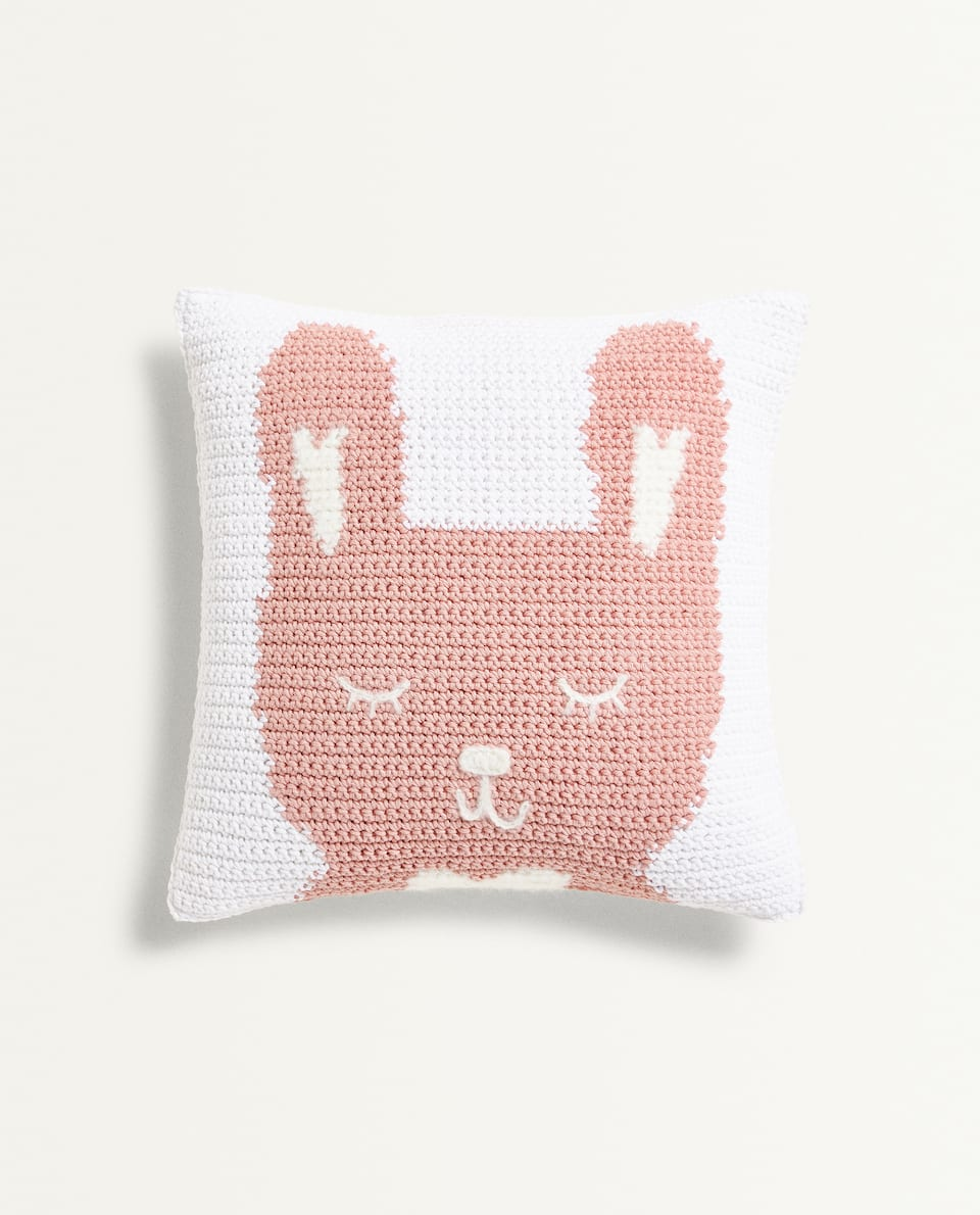 BUNNY RABBIT CUSHION COVER